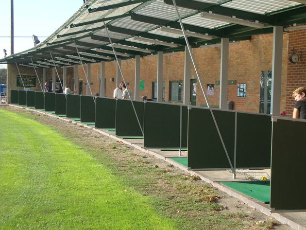Unfortunately we do not hire clubs out for the range.
